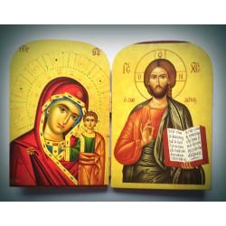 Diptych - Kristus s Pannou Marii