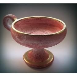 Kadidelnice růžová keramická 8cm