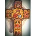Byzantský kříž s ikonou Panny Marie a Kristovým životem II.