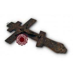 Ruský kříž na žehnání - hnědý