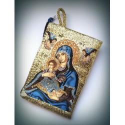 Peněženka s byzantskou ikonou Bohorodice D