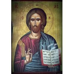 Magnetka s ikonou žehnajícího Krista