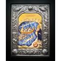 Kovová ikona Krista zachraňujícího sv. Petra