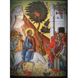 Magnetka s ikonou s vjezdem Krista do Jeruzaléma