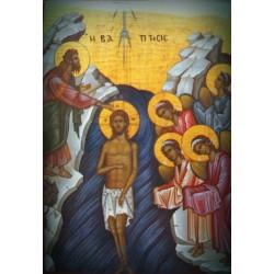 Magnetka s ikonou Sestupu Krista do podsvětí