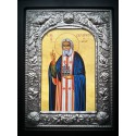 Kovová ikona sv. Serafima Sarovského