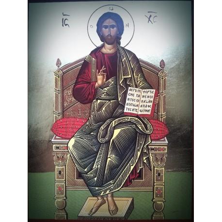 Kristus Vševládce na trůně