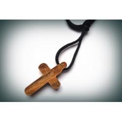 Byzantský kříž na krk s Kristem