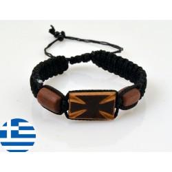 Dřevěný modlitební náramek X