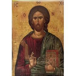 Magnetka s ikonou žehnajícího Krista E