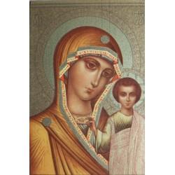 Magnetka s ikonou Přesvaté Bohorodice a Krista