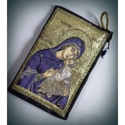 Peněženka s byzantskou ikonou Bohorodice J