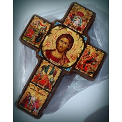 Byzantský kříž se životem Krista