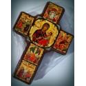Byzantský kříž s ikonou Panny Marie a Kristovým životem