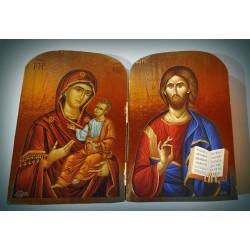 Diptych - Kristus s Bohorodicí (Milosrdná)