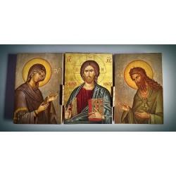 Triptych - Kristus  Vševládce, Panna Marie a sv. Jan Křtitel