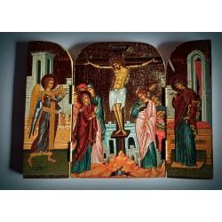 Triptych - ikona Ukřižování Krista