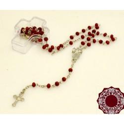 Růženec s průsvitnými zelenými korálky 50