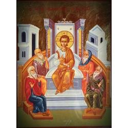 Ikona mladého Ježíše hovořící s učiteli Zákona