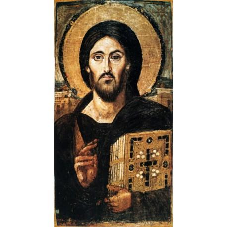Kristus Vševládce - Enkaustika