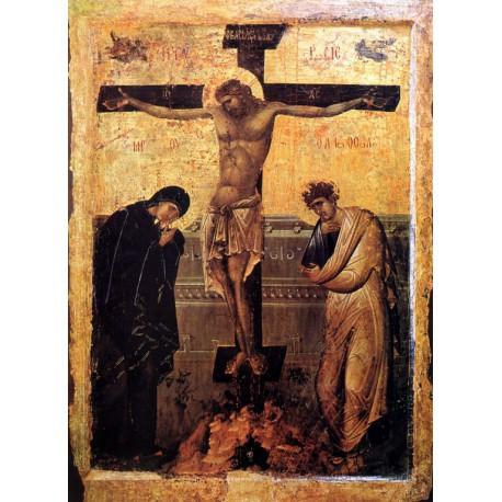 Ukřižování Ježíše Krista - Byzantská ikona