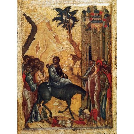 Vjezd do Jeruzaléma - Ikona 15. stol.