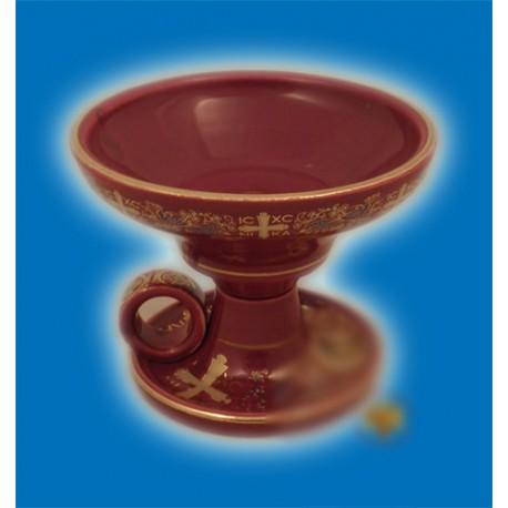 Kadidelnice porcelánová - červená 9cm