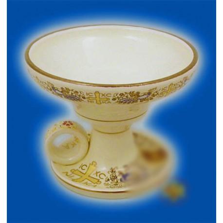 Kadidelnice porcelánová - bílá 9cm