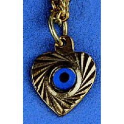 Modré ochranné oko ve tvaru srdce (Nazar)