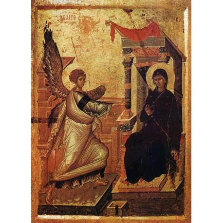 Zvěstování páně - makedonská ikona 14. stol.