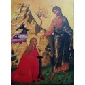 Maria Magdaléna s Ježíšem (krétská ikona)