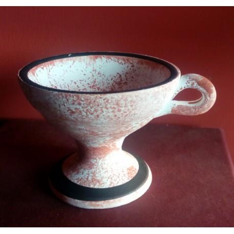Kadidelnice načervenalá keramická 8cm