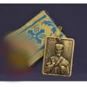 Filakto s kovovou ikonkou svatého Mikuláše