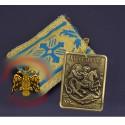 Filakto s kovovou ikonkou sv. Jiří bojujícího s drakem