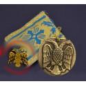 Filakto s kovovou ikonkou byzantského orla