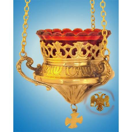 Závěsná olejová lampa pozlacená
