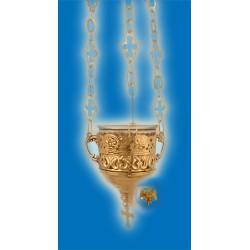 Závěsná olejová lampa pozlacená Deco