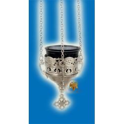 Závěsná olejová lampa stříbrná Deco
