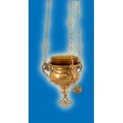 Závěsná olejová lampa antická s hlavou anděla