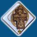 Řecký gravírovaný dřevěný kříž na krk A