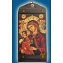 Byzantská ikona s Bohorodicí a ochranným andělem