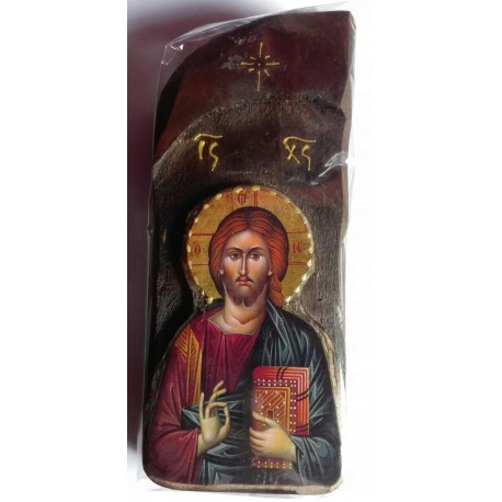 Starověká ikona Krista na dřevě