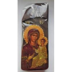 Starověká ikona s Pannou Marií a Kristem