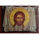 Ikona tváře Ježíše Krista na plátně