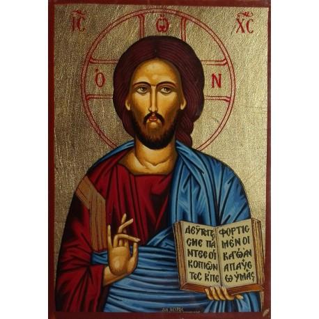 Žehnající Kristus (ikona na plátně)