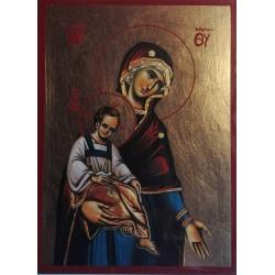 Ikona Panny Marie Spasitelky světa (detail)