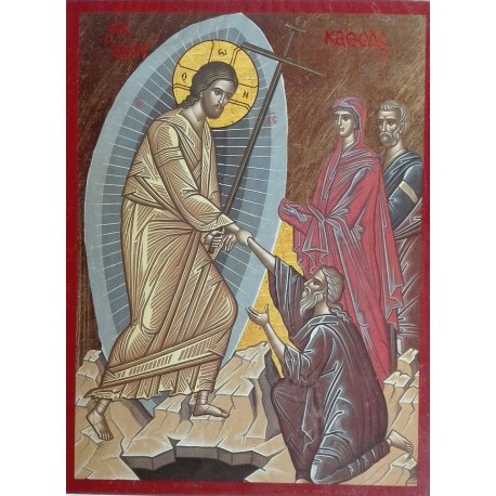 Ikona Krista sestupujícího do podsvětí