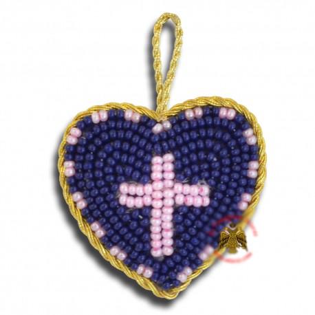 Filakton ve tvaru srdce (modrý)