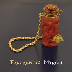 Svatý olej s aroma myrhy se řetízkem