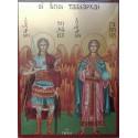 Ikona archanděla Michaela a Gabriela